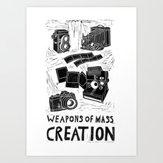 Weapons Of Mass Creation - Photography (blockprint) Art Print
