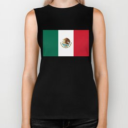 Flag of Mexico - Authentic Scale and Color (HD image) Biker Tank
