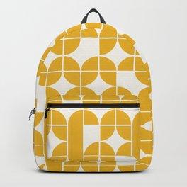 Mid Century Modern Geometric Pattern Yellow Backpack