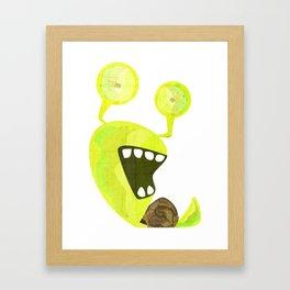 Snaily Snail Framed Art Print