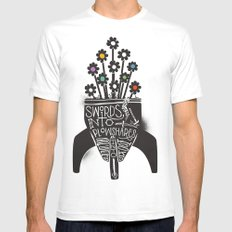 Swords Into Plowshares Mens Fitted Tee MEDIUM White
