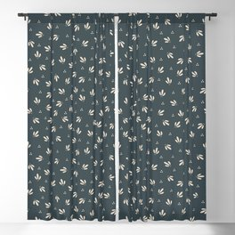 Vintage Modern Leaves and Berries Blackout Curtain