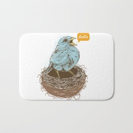 Twisty Bird Bath Mat