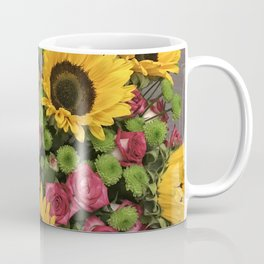 Sunflowers and Little Red Roses Coffee Mug