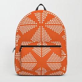 Geometric Dots Pattern - Orange Backpack