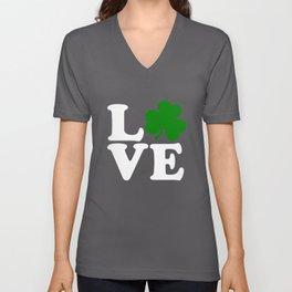 Love with Irish shamrock Unisex V-Neck