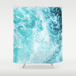 Perfect Sea Waves Shower Curtain