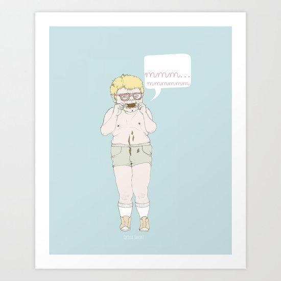 mmm... Art Print