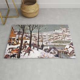 Hunters in the Snow - Pieter Bruegel the Elder Rug