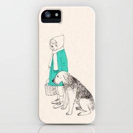 girl n dog iPhone Case