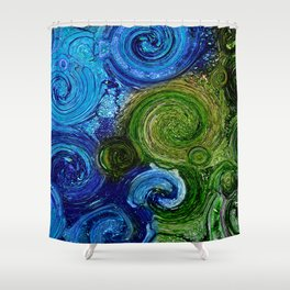 Greens and Blues Shower Curtain
