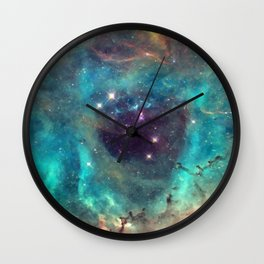 Colorful Nebula Galaxy Wall Clock