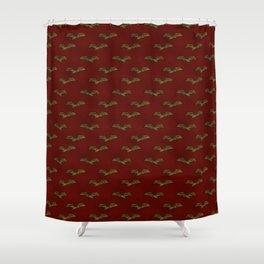 Victorian Bat Pattern (red) Shower Curtain