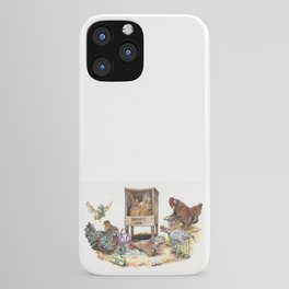 """""""Life in the Coop"""" funny chicken watercolor iPhone Case"""