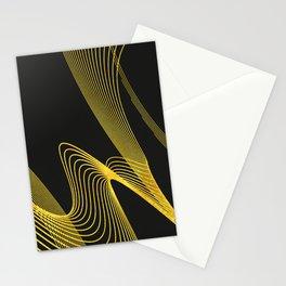 Gold Elegant -Piano Black- Stationery Cards