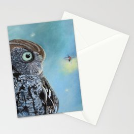 Owl and Lightning Bugs Stationery Cards