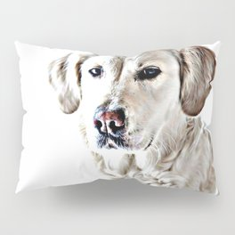 Drawing of a Yellow Lab Pillow Sham