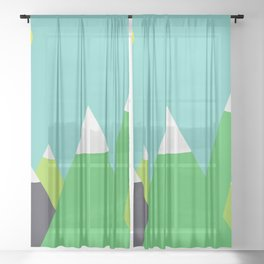 Mountain Sheer Curtain