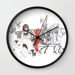 Elwood's Uncomfortable Stare Wall Clock