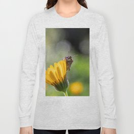Funny insect on yellow flower Long Sleeve T-shirt