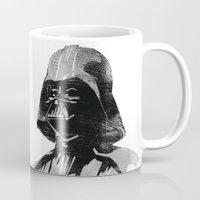 darth vader Mugs featuring Darth Vader by Hey!Roger