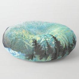Beyond The Trees Floor Pillow