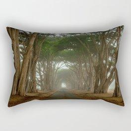 Image California USA Avenue Nature Trees Allee Rectangular Pillow