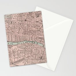 Vintage Map of Glasgow Scotland (1901) Stationery Cards