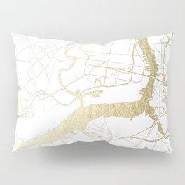 Philidelphia - White and Gold Pillow Sham