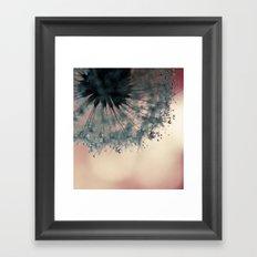 dandelion green III Framed Art Print