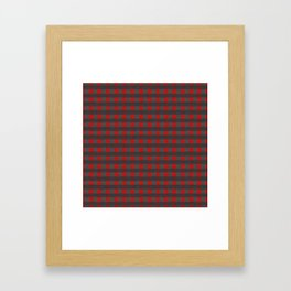 Antiallergenic Hand Knitted Red Grid Winter Wool Pattern - Mix & Match with Simplicty of life Framed Art Print