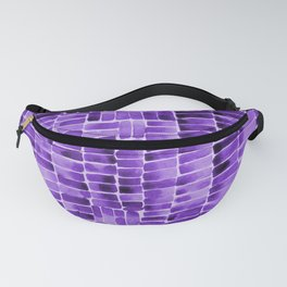 Watercolor abstract rectangles - purple Fanny Pack