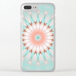 Mandala newborn child Clear iPhone Case