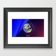 Cosmos Earth Framed Art Print