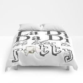 La Di Da Di on White Comforters
