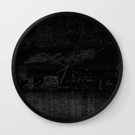 Indian life in Black Wall Clock