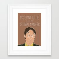 dwight Framed Art Prints featuring Dwight Schrute by The Two Pens