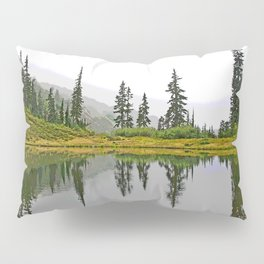 REFLECTIONS ON A PLACID MOUNTAIN LAKE Pillow Sham