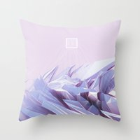 data Throw Pillows featuring Data Crystals by memoirnova