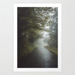 Misty Roads Art Print