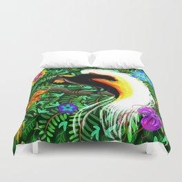 Paradise Bird Fire Feathers Duvet Cover