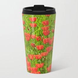 tulips field Metal Travel Mug