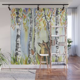 Fox in the Woods Wall Mural
