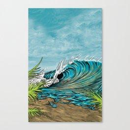 Original Surf Artist with Unique Style  Canvas Print