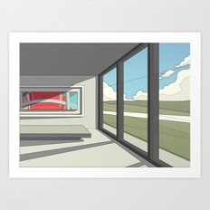 Gallery Room Scene Art Print