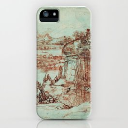 Landscape by Leonardo Da Vinci iPhone Case