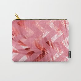 striped wavy pink glittered abstract digital pattern Carry-All Pouch
