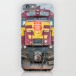 Wisconsin Central Ltd Engine 7525 Operation Lifesaver Livery Train iPhone Case