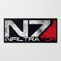 n7 Canvas Prints featuring N7 Infiltrator by Draygin82