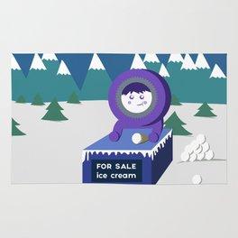 Eskimo ice cream stand Rug